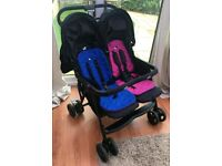 Joie Aire double Stroller buggy pushchair