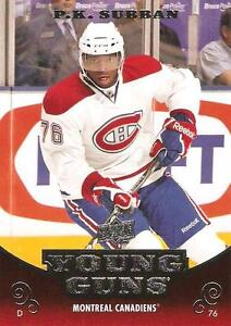P.K. SUBBAN .... 2010-11 Upper Deck and Score .... ROOKIE CARDS