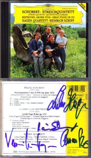 HAGEN QUARTETT Signed SCHUBERT String Quintet D.959 BEETHOVEN Heinrich SCHIFF CD