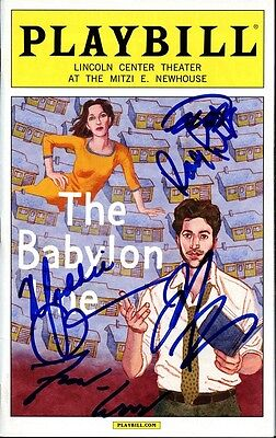 THE BABYLON LINE Cast Signed Playbill