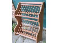 Wooden Plate Rack & Cup Holder 50 by 70cm