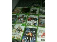 Xbox 360 slim with 16 games with disc and 32 on 320gb harddrive
