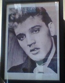 elvis framed photo.