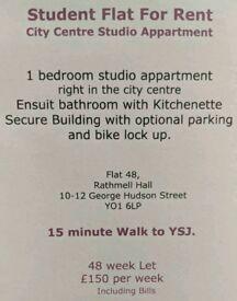 Student Studio Appartment - To Rent -