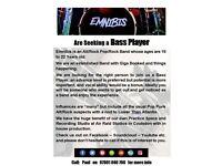 Pop Rock Band Seeking Bass Player