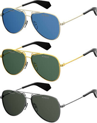 Polaroid Polarized Men's Classic Teardrop Aviator Sunglasses - (Teardrop Aviator Sunglasses)