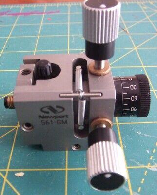 Newport Gimbal Fiber Chuck Positioner Wfiber Chuck -- 561-gm -- Used A12