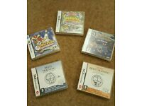 Nintendo dsi games including Pokemon Mystery Dungeon