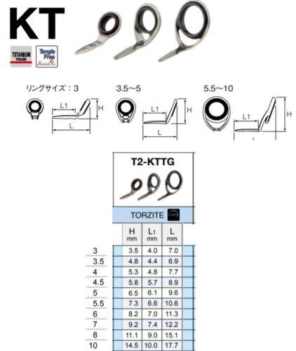Fuji guides TORZITE Titanium T2-KTTG all sizes, Dark Gunsmoke frame, Best guides
