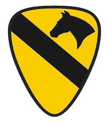 1st Home Decorations (United States Army 1st Cavalry Sticker MADE IN USA R176 CHOOSE SIZE FROM)