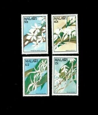 VINTAGE CLASSICS - Malawi - Flowers, Orchids - Set of 4 Stamps - MNH