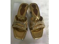 Indian style gold sandals