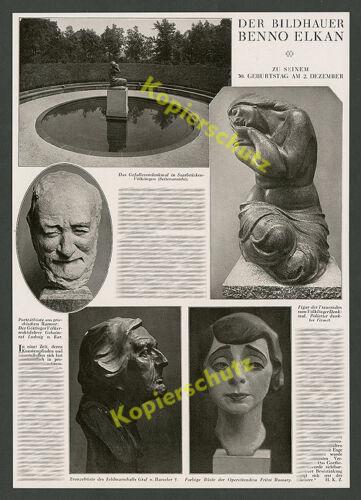 Benno Elkan Dortmund Bildhauer 50.Geburtstag Skulpturen Völklingen Judentum 1927
