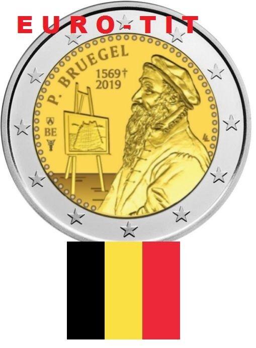 2019  belgique      la  piece  de   2 euro    2019  p. bruegel   2019 disponible