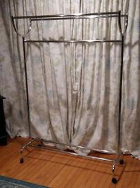 Double / Triple Mobile Clothes Rail For Sale