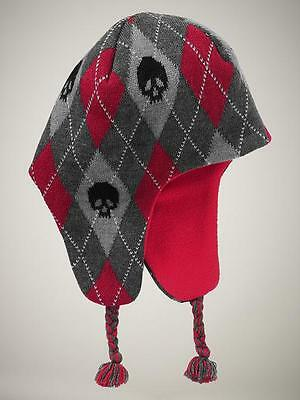 Baby Gap Fleece Lined Argyle Skull Winter Hat Toddler Extra Small / Small