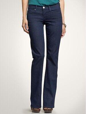 Gap 1969 Perfect Boot Jeans Women's Size 25/0 Dark Wash 25x33 Stretch