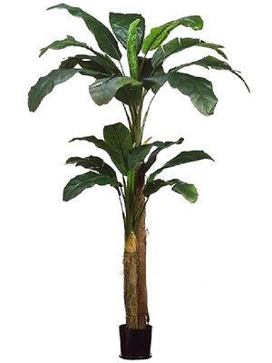 8'+5' Banana Artificial Tree in Pot Silk Plants Decor. 48 (Artificial Banana Tree)