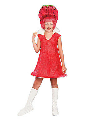 Fruit Dress Up Costumes (Strawberry Tart Shortcake Fruit Retro Red Fancy Dress Up Halloween Child)