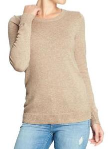 Women's Old Navy brown crewneck cable knit sweater Small NWT London Ontario image 1