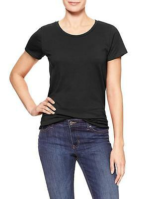GAP Women`s Favorite Crewneck Tee Short Sleeve T Shirt Top Black Blouse NWT