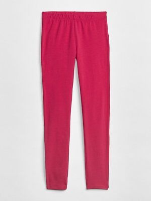 Gap Kids Girls Leggings 10 12 Hot Pink Stretch Jersey Elastic Waist Cotton New (Hot Girls Leggings)
