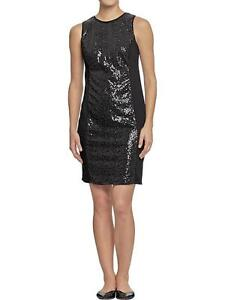 Women's Old Navy black sequin front dress casual business party