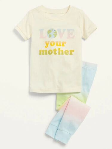 NWT Old Navy Girls Love your Mother Earth rainbow tie-dye 3t 3