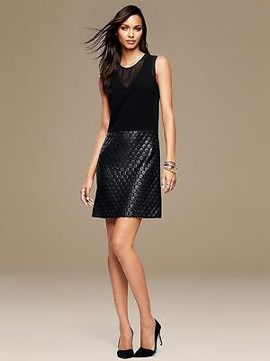 New Banana Republic Coated Lace Dress size 12P   Second item will ship for free