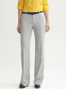 Brand New Banana Republic Women's Martin Fit Light Grey Flannel Trouser Size 8