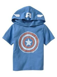 NWT Baby GAP Junk Food Superhero Captain America Hoo