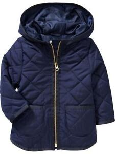Old Navy Quilted uniform blue 2T girls fall jacket, EUC