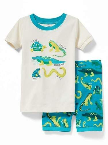 NWT BOYS OLD NAVY PAJAMAS PJS SIZE 3T 4T REPTILES 12 18 months summer set shorts