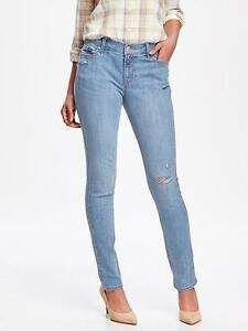 Old Navy Straight Leg High rise distressed light wash jeans NWT