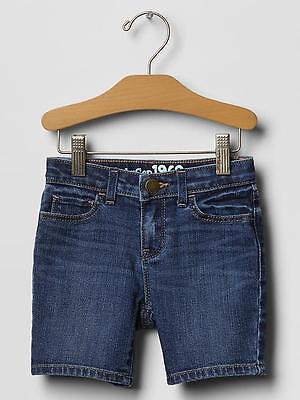 NWT $27 Baby GAP Girls Indigo Denim Bermuda Shorts 12 18 mo 2T 3T 4T 5T 2 3 4 5