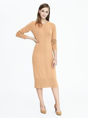 New Banana Republic Heritage Sweater Dress Size PM  80% Merino Wool 20% Cashmere