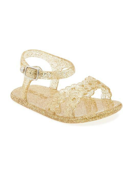Old NavyJelly Sandals for Baby Girl Gold  0-24 Months Brand New Summer Sandals
