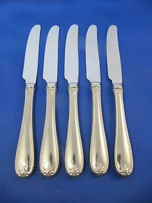 Lenox TUDOR BEAD Hollow Handle Dinner Knives Stainless Flatware Set Of 5 Exc!