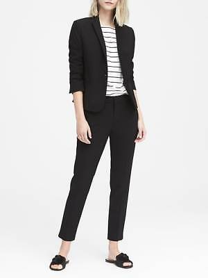 BANANA REPUBLIC CLASSIC FIT MACHINE WASHABLE WOOL BLAZER 4 BLACK JACKET $198 NEW Classic Wool Blazer
