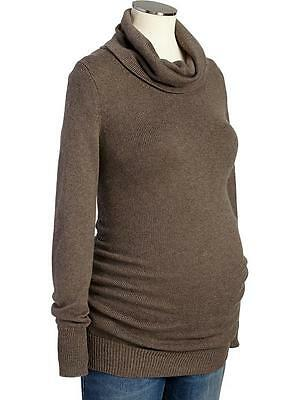 NWOT brown Old Navy Maternity Cowl-Neck Sweater size Med