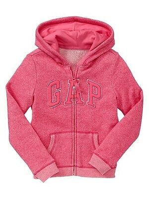 NWT GAP Marled French Terry Knit Arch Logo Hoodie Hooded Sweatshirt Girls XL 12 Marled French Terry