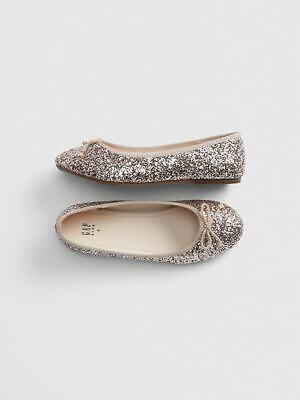 GAP KIDS Kids Glitter Ballet Flats shoes 12 13 n5 -