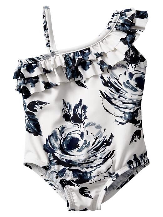 GAP Baby / Toddler Girl 2 Years  / 2T Floral Ruffle One-Piece Bathing Suit