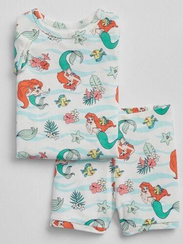 NWT BABY GAP GIRLS PAJAMAS SHORTS Little Mermaid Ariel  you pick size
