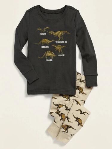 NWT Old Navy Dinosaur Sleep Set Dino Pajama PJ T-Rex Stegosaurs Boys 5T