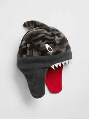 NWT Kid GAP Shark Fin Pro Fleece Shark Trapper Hat Supersoft Warm Boys S/M L/XL ()