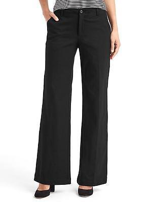 Gap Women's Black Wide-Leg Knit Pants Size 10 Long