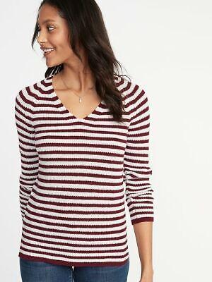 Old Navy Shaker Knit V-neck Sweater  NWT