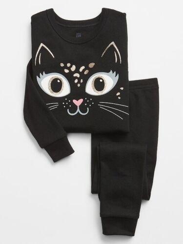 NWT BABY GAP GIRLS PAJAMAS black cat kitty gliter halloween      u pick size