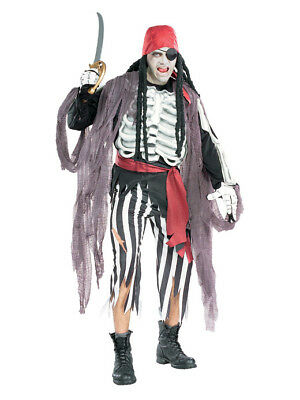 Pirate Zombie Costume (Ghostship Pirate Captain Zombie Skeleton Adult)